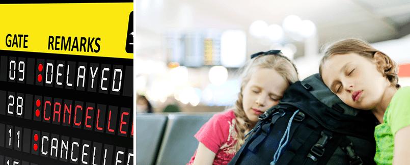Attendre à l'aéroport en cas de vol retardé