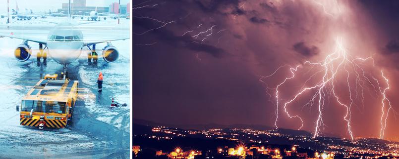 Retard ou annulation de vol pour cause de mauvais temps
